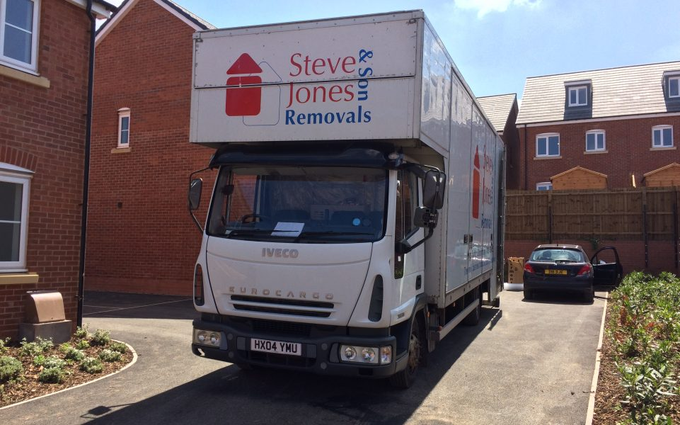 Kings Norton removals firm lorry parked for residential move